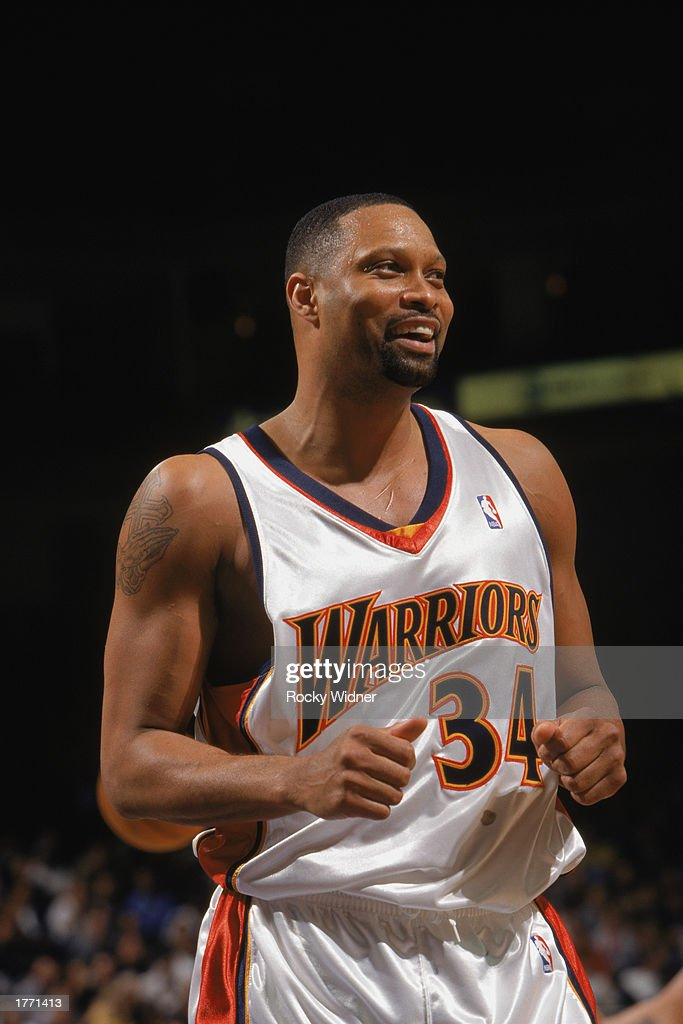 Portrait of Chris Mills of the Golden State Warriors during the game against the Memphis Grizzlies at The Arena in Oakland on February 2 2003 in...