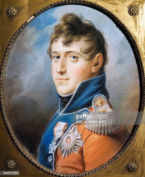 Portrait of Christian VIII of Denmark King of Denmark and Norway Pastel by Christian Horneman Copenhagen Rosenborg Slot Danske Kongers Kronologiske...
