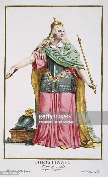 'Portrait of Christina Queen of Sweden by Pierre Duflos '