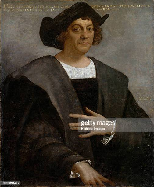 Portrait of Christopher Columbus 1519 Found in the collection of Metropolitan Museum of Art New York Artist Piombo Sebastiano del