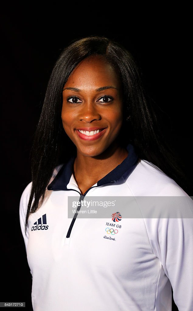 A portrait of Cindy Ofili a member of the Great Britain Olympic team during the Team GB Kitting Out ahead of Rio 2016 Olympic Games on June 26, 2016 in Birmingham, England.