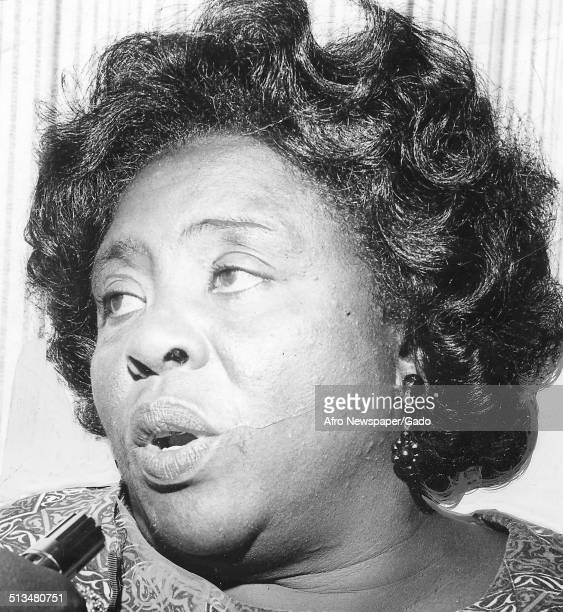 Portrait of civil rights activist and organizer of the Student Nonviolent Coordinating Committee Fannie Lou Hamer 1965
