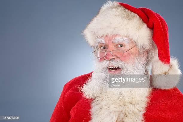 Portrait of classic Santa laughing