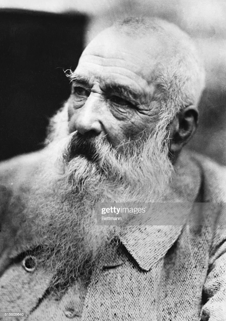 Portrait of <a gi-track='captionPersonalityLinkClicked' href=/galleries/search?phrase=Claude+Monet&family=editorial&specificpeople=79875 ng-click='$event.stopPropagation()'>Claude Monet</a> (1840-1926), famous French expressionist painter. Undated photograph.