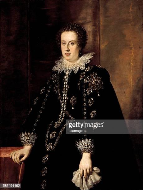 Portrait of Claudia de Medici spouse of Federico della Rovere Duke of Urbino then she married Leopold V Archduke of Austria Painting by Justus...
