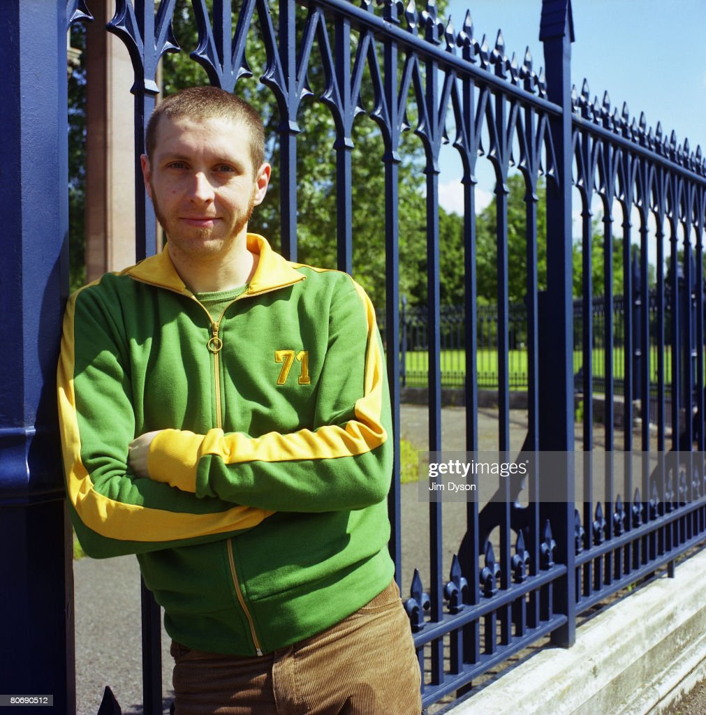 A Portrait of comedian Dave Gorman, summer 2002 in Victoria Park, London.