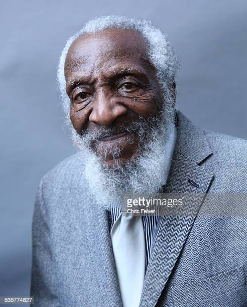 Portrait of comedian Dick Gregory at an event honoring him with a star on the Hollywood Walk of Fame in Hollywood California February 2 2015