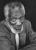 Portrait of comedian Dick Gregory at an event honoring him with a star on the Hollywood Walk of Fame Hollywood California February 2 2015