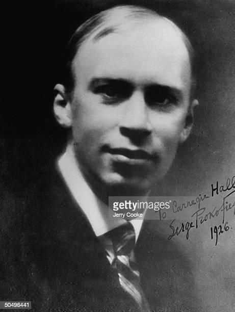 Portrait of Composer Sergei Prokofiev