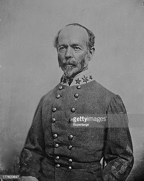 Portrait of Confederate General Joseph E Johnston 1864 He was the senior Confederate commander at the First Battle of Bull Run in 1861