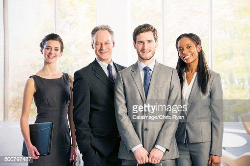 Portrait of confident business people