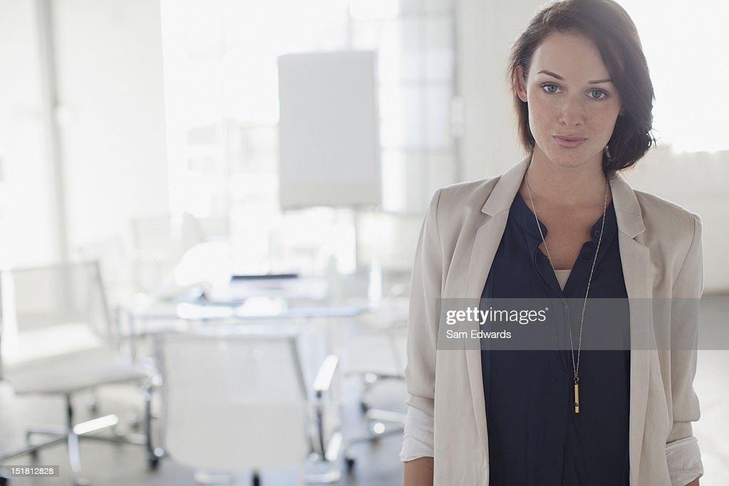 Portrait of confident businesswoman in office : Stock Photo
