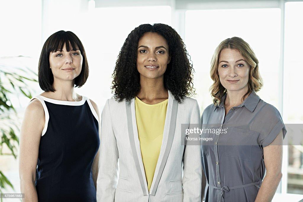 Portrait of confident businesswomen : Stock Photo