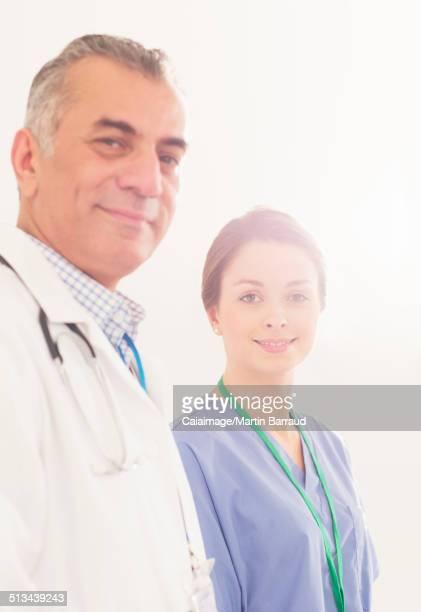 Portrait of confident doctor and nurse