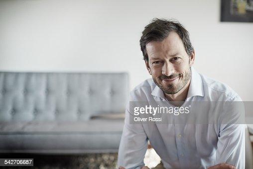 Portrait of confident man in shirt