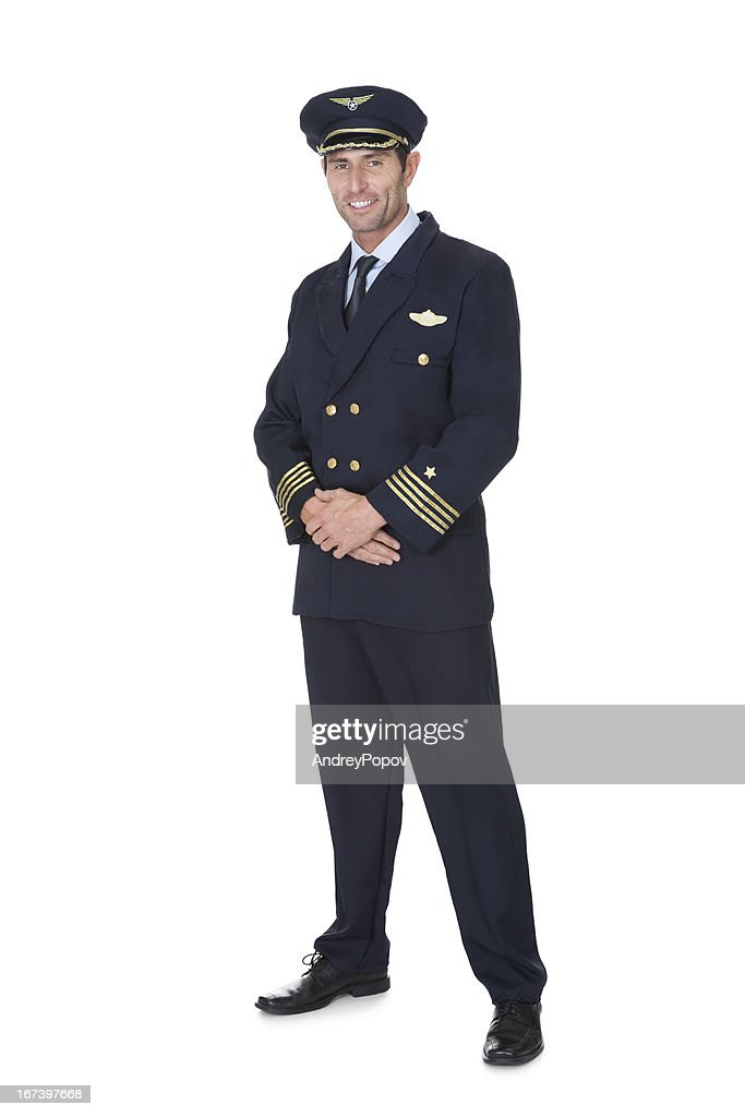 Portrait of confident pilot : Stock Photo