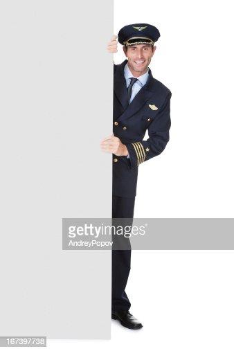 Portrait of confident pilot : Stockfoto