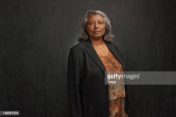 Portrait of confident senior woman