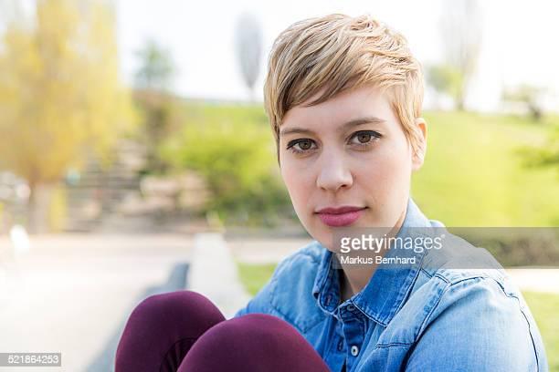 Portrait of confident woman