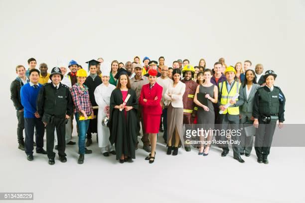 Portrait of confident workforce