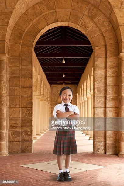 Portrait of Confident Young Schoolgirl