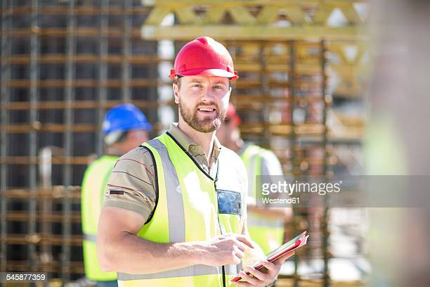 Portrait of construction worker in construction site