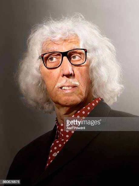 Portrait of cool elderly man with glasses