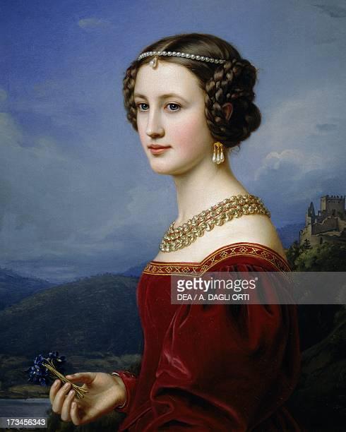 Portrait of Cornelia Vetterlein painting by Joseph Karl Stieler oil on canvas 72x59 cm Monaco Schloss Nymphenburg Schonheitengalerie