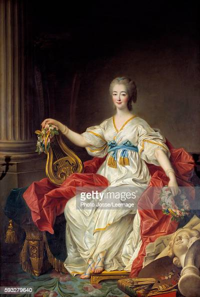 Portrait of Countess Jeanne du Barry courtesan and mistress of Louis XV Painting by Francois Hubert Drouais 18th century Chamber of Commerce area...