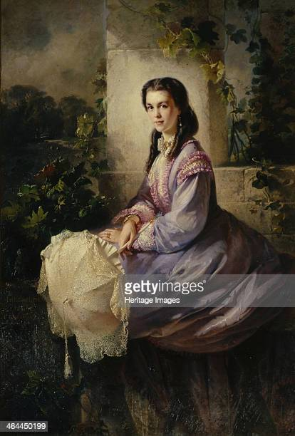 Portrait of Countess SL Stroganova 1864 Found in the collection of the State Tretyakov Gallery Moscow