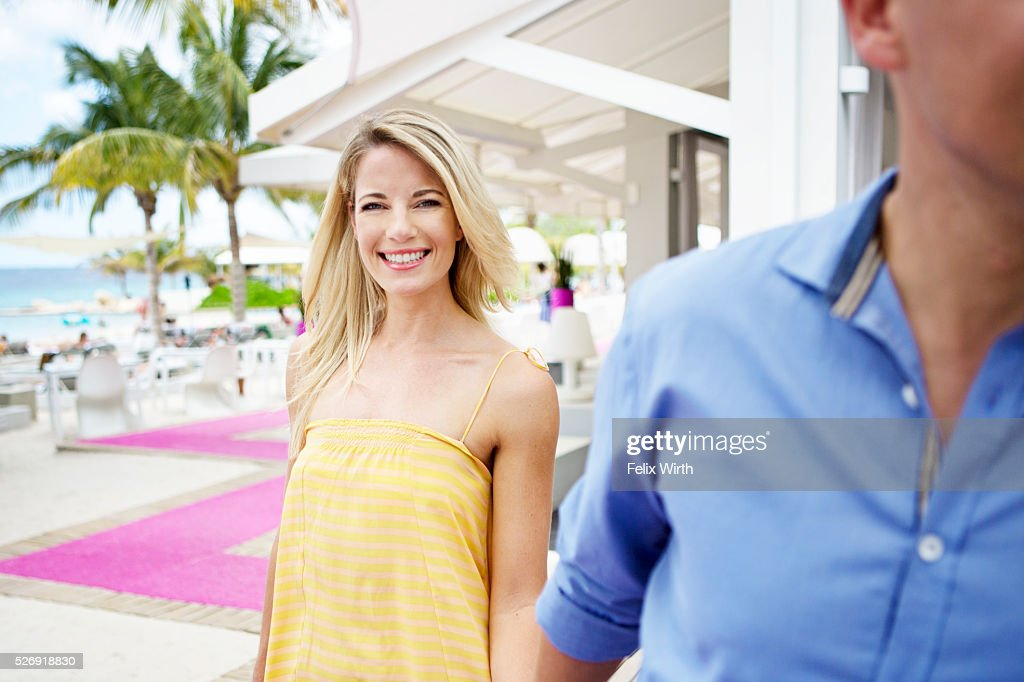 Portrait of couple at holiday resort : Stock Photo