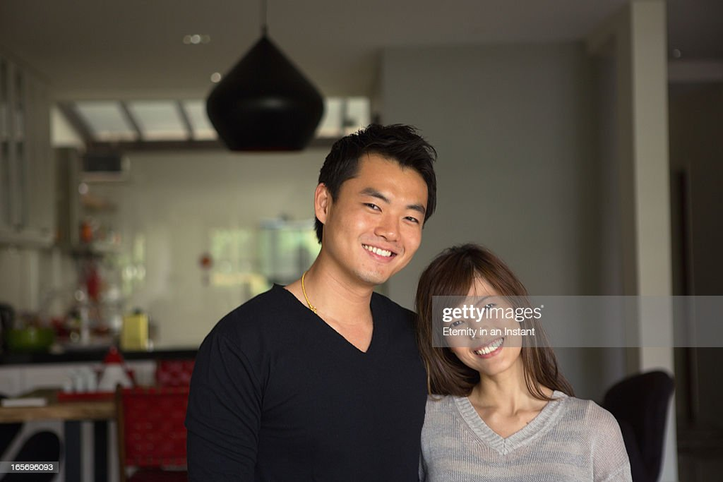 Portrait of couple at home : Stock Photo