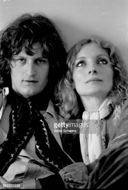 Portrait of couple French photographer Michel Auder and actress Viva in their room at the Chelsea Hotel New York New York 1969