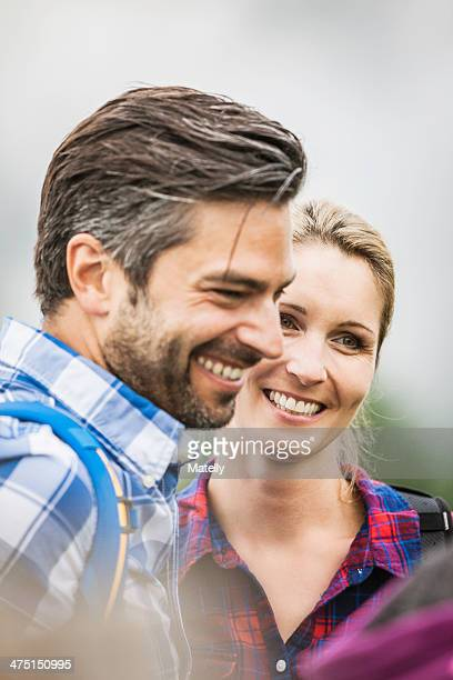Portrait of couple smiling