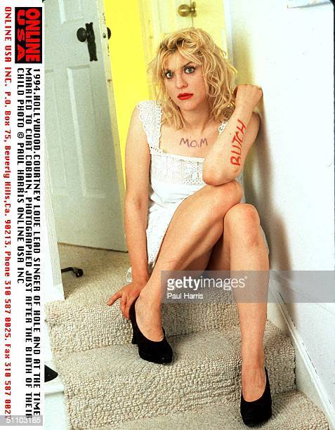 Portrait Of Courtney LoveLead Singer Of Hole Hole At The Time Married To Curt Cobain And A Few Months After Giving Birth To Their Child