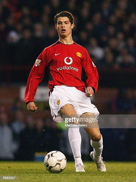 A portrait of Cristiano Ronaldo during the FA Barclaycard Premiership match between Manchester United v Portsmouth at Old Trafford on November 1 2003...
