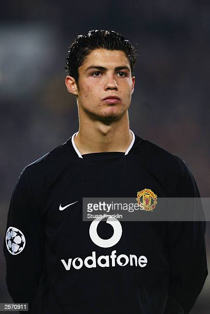 Portrait of Cristiano Ronaldo of Manchester United taken before the UEFA Champions League Group E match between VfB Stuttgart and Manchester United...