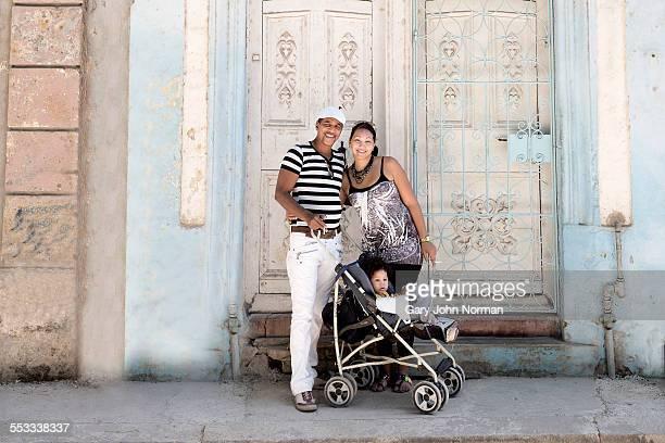 Portrait of Cuban family in Havana