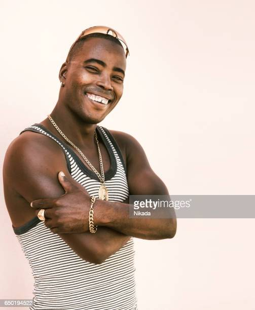 Portrait of cuban man in cuba
