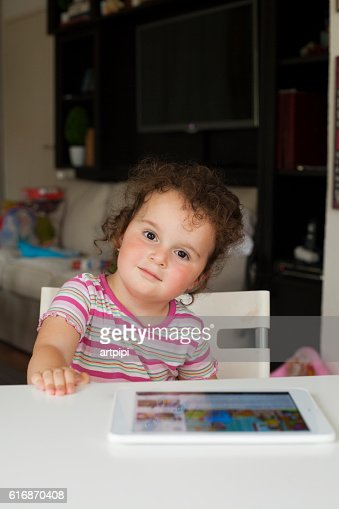 portrait of cute girl : Stock Photo