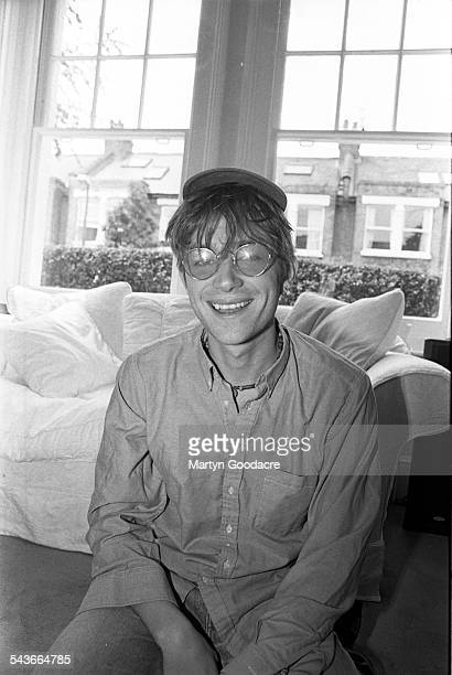 Portrait of Damon Albarn of Blur at record producer Stephen Street's house London United Kingdom 1995