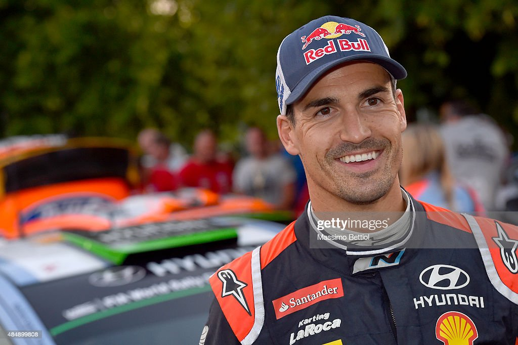 Portrait of Daniel Sordo of Spain in the last service area during Day Two of the WRC Germany on August 22, 2015 in Trier, Germany.
