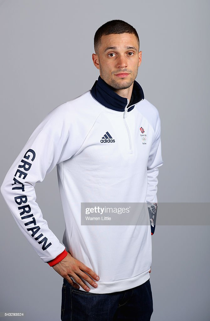 A portrait of <a gi-track='captionPersonalityLinkClicked' href=/galleries/search?phrase=Danny+Talbot&family=editorial&specificpeople=5970119 ng-click='$event.stopPropagation()'>Danny Talbot</a> a member of the Great Britain Olympic team during the Team GB Kitting Out ahead of Rio 2016 Olympic Games on June 27, 2016 in Birmingham, England.