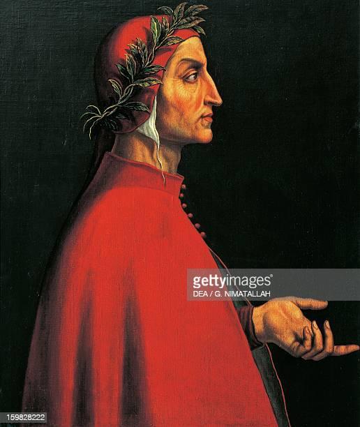 Portrait of Dante Alighieri Italian poet Painting by the Italian school 16th century Innsbruck Schloss Ambras Kunsthistorisches Museum Habsburger...