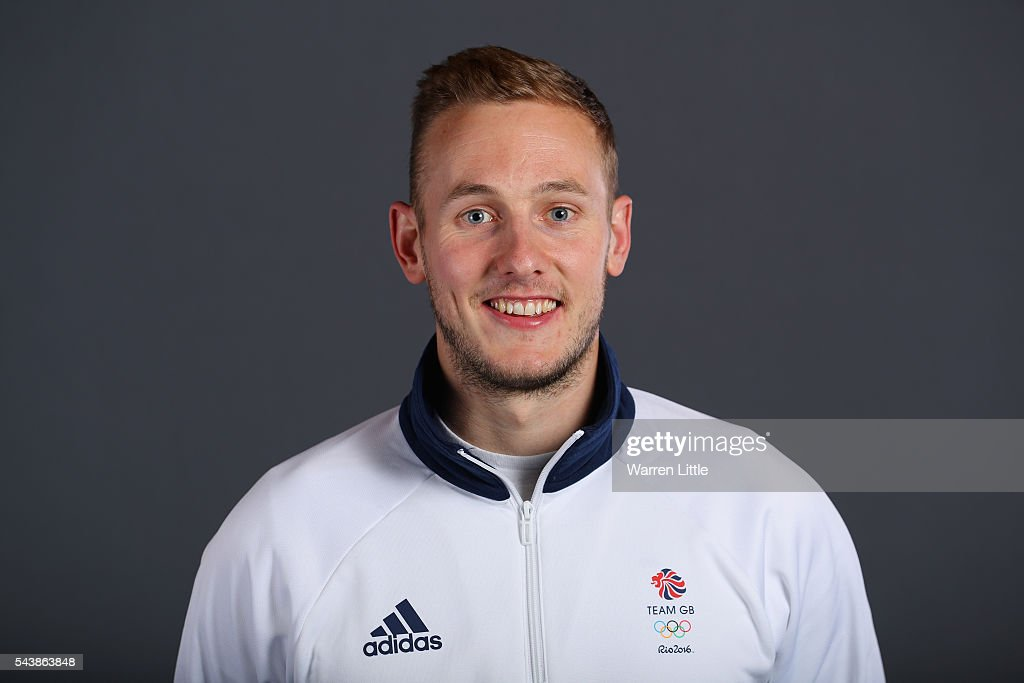 A portrait of David Ames a member of the Great Britain Olympic team during the Team GB Kitting Out ahead of Rio 2016 Olympic Games on June 30, 2016 in Birmingham, England.
