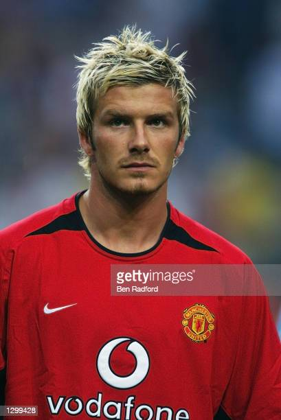Portrait of David Beckham of Manchester United before the PreSeason Amsterdam Tournament match between Ajax and Manchester United played at the...