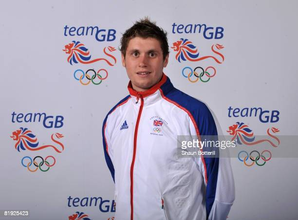 A portrait of David Davies a member of the Swimming team at the National Exhibition Centre on July 14 2008 in Birmingham England