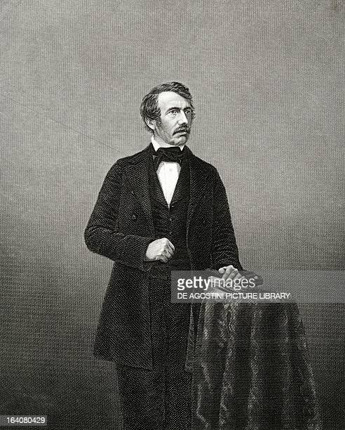 Portrait of David Livingstone British missionary explorer and doctor Engraving from a photograph by John Jabez Edwin Mayall