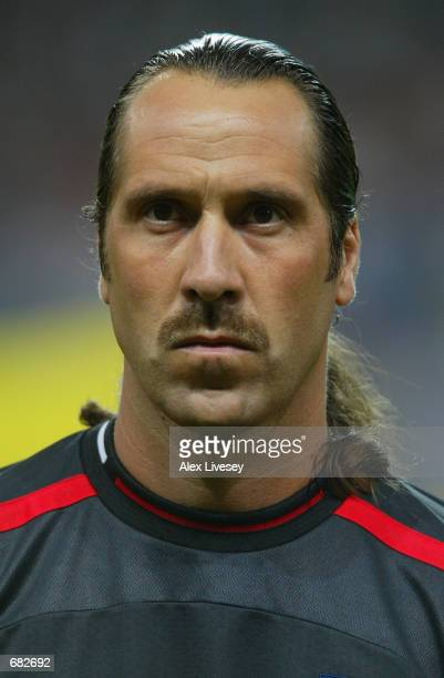 Portrait of David Seaman of England before the FIFA World Cup Finals 2002 Group F match between England and Argentina played at the Sapporo Dome in...