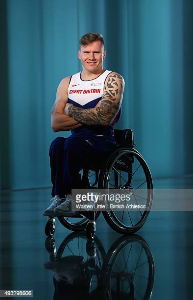A portrait of David Weir of Great Britain Paralympic Team ahead of the IPC Athletics World Championship at The Torch Hotel on October 16 2015 in Doha...
